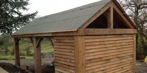 garden-garage-wooden