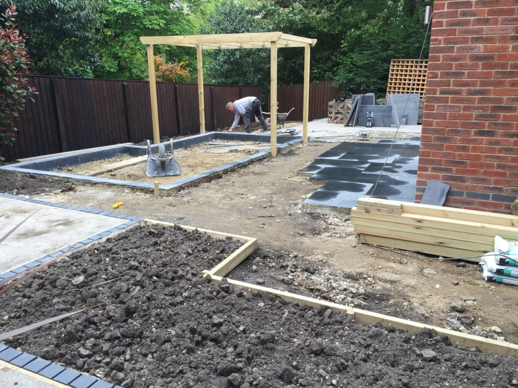 Modern garden design build project leeds