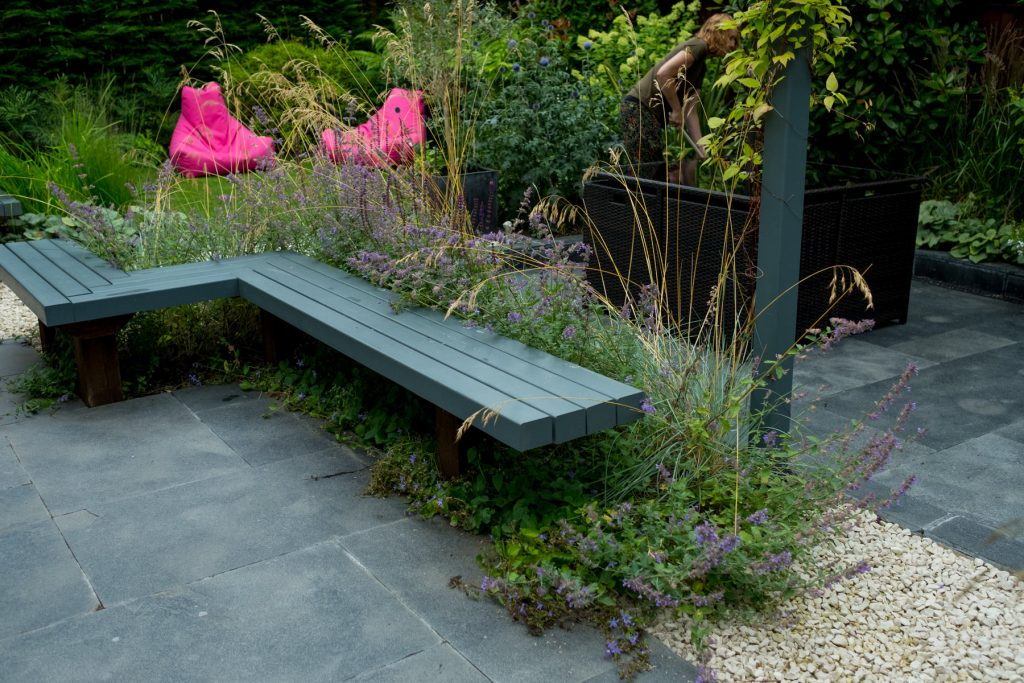 Contemporary garden design and build Leeds