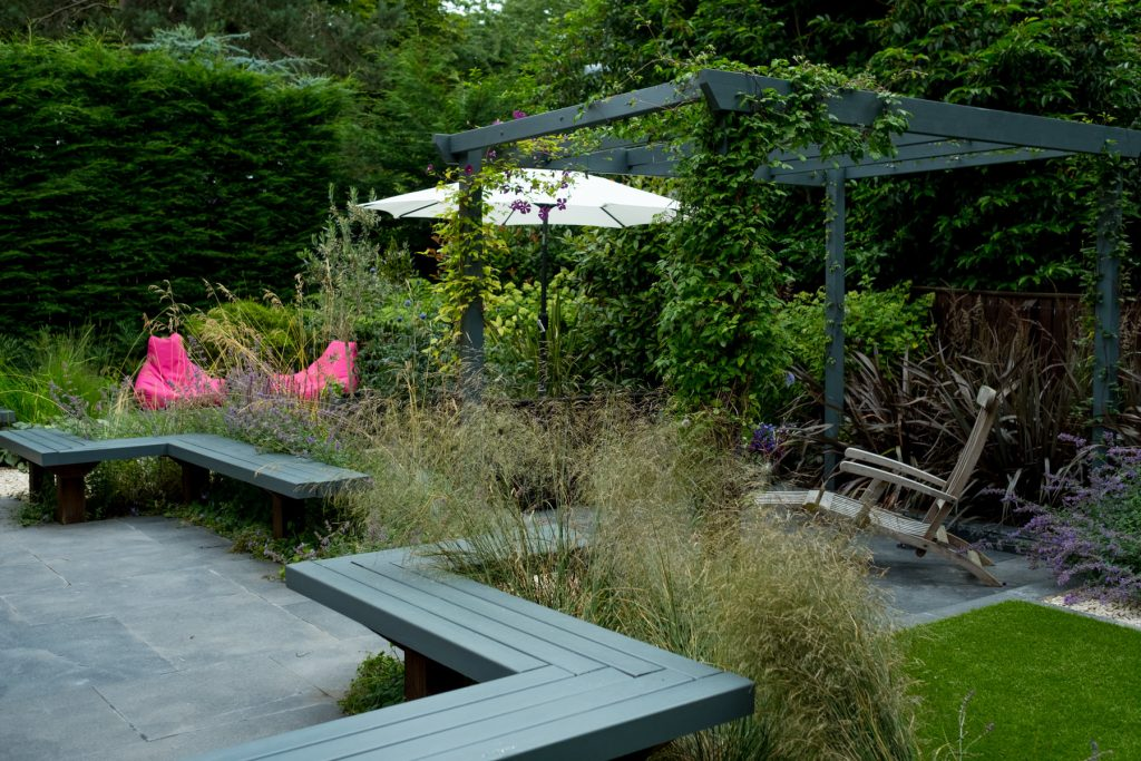 Modern garden design and build Leeds