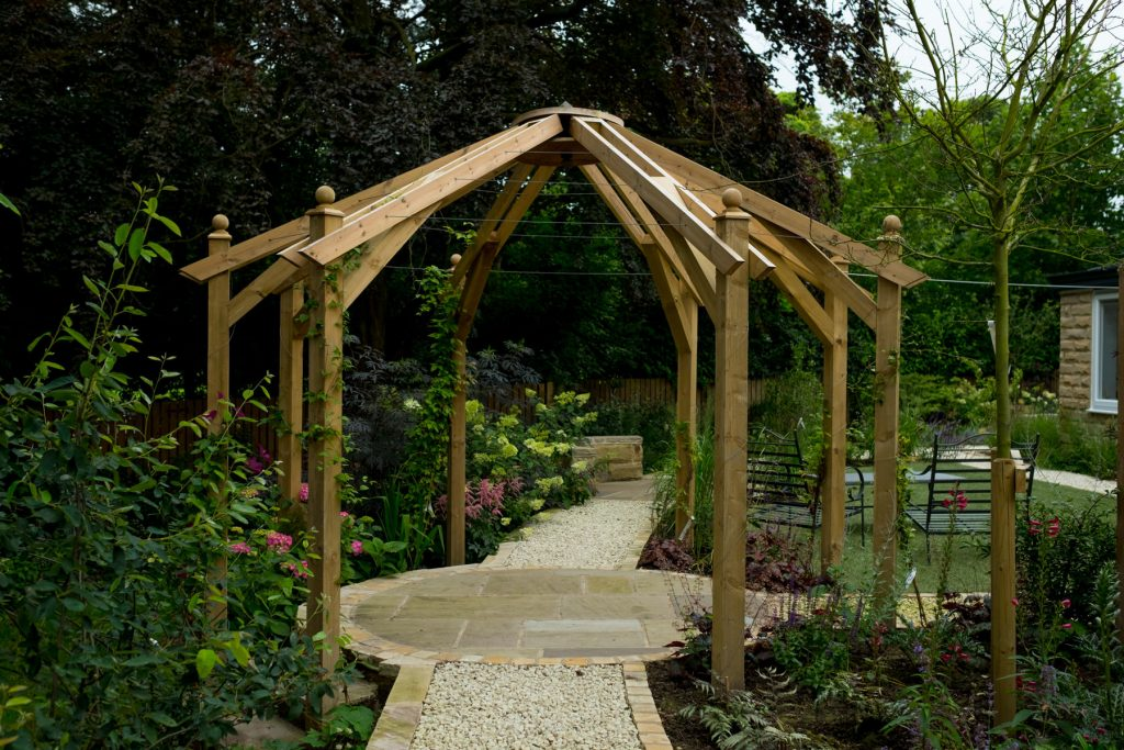 Pergola. Leeds garden design and build