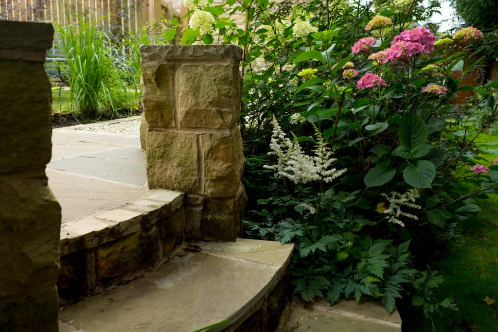 York stone steps. Leeds Garden design and build