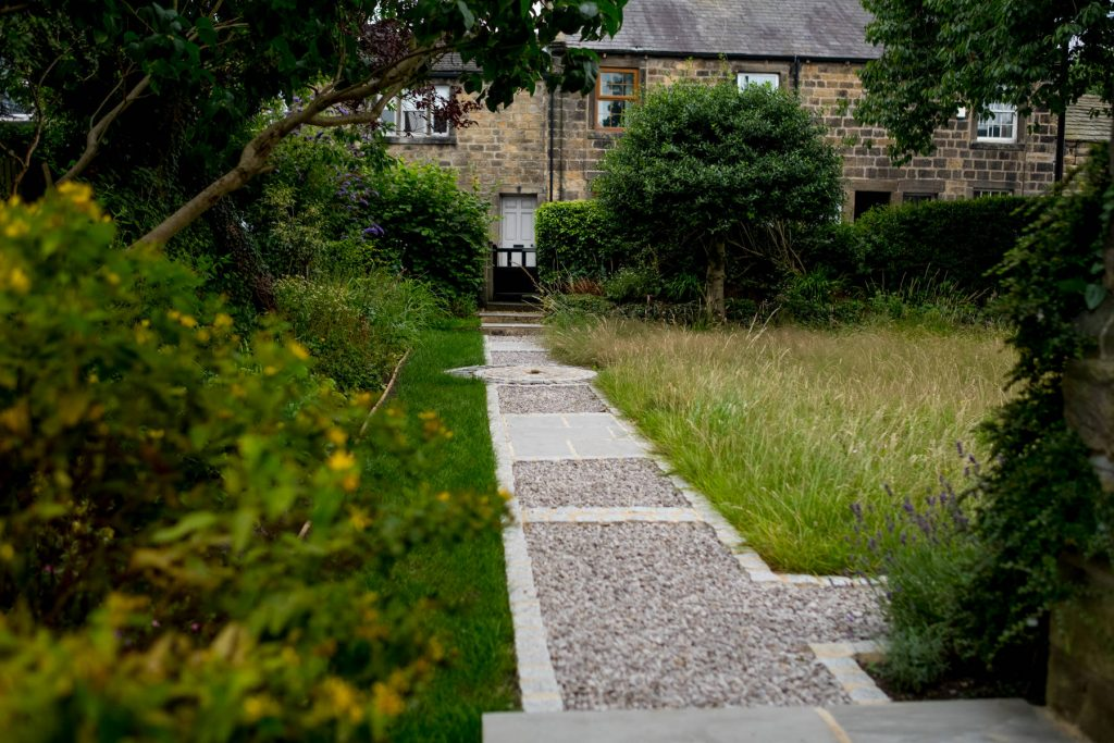Modern garden path. Harrogate and Leeds Garden design and build
