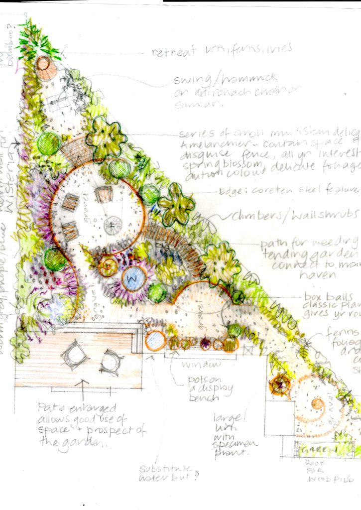 Small garden design in Leeds