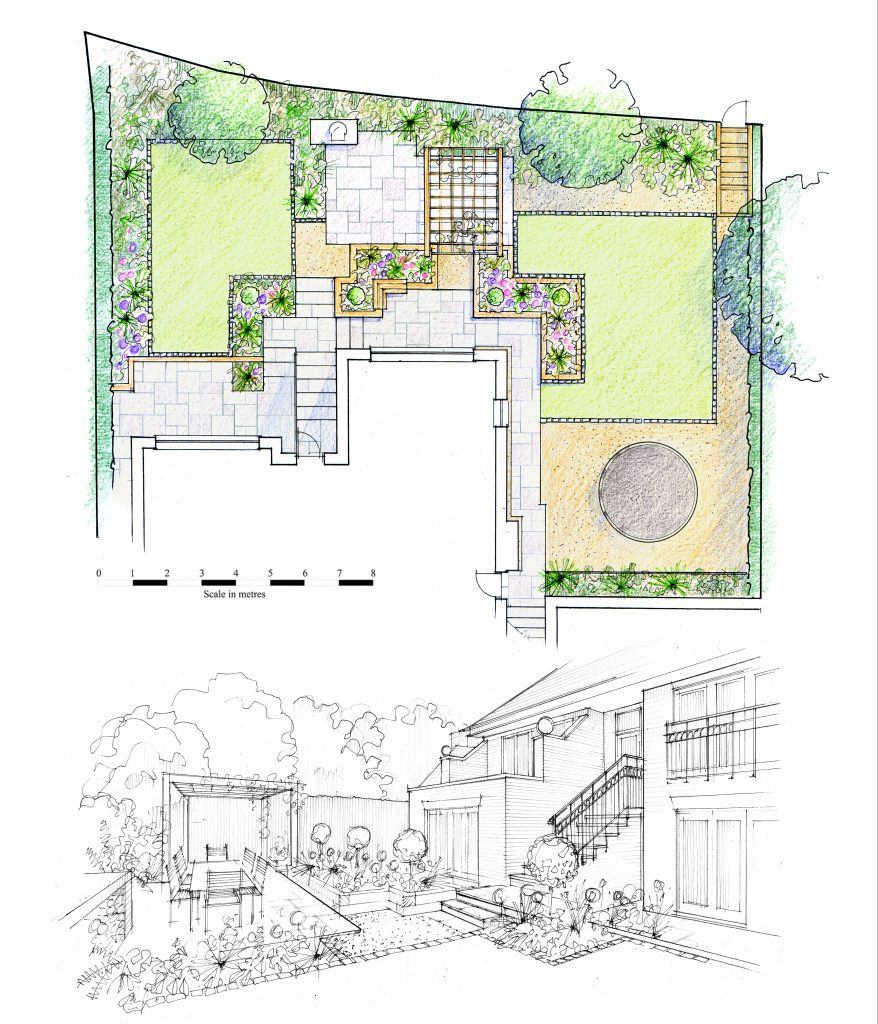 garden design plans, leeds, yorkshire. Design and build.