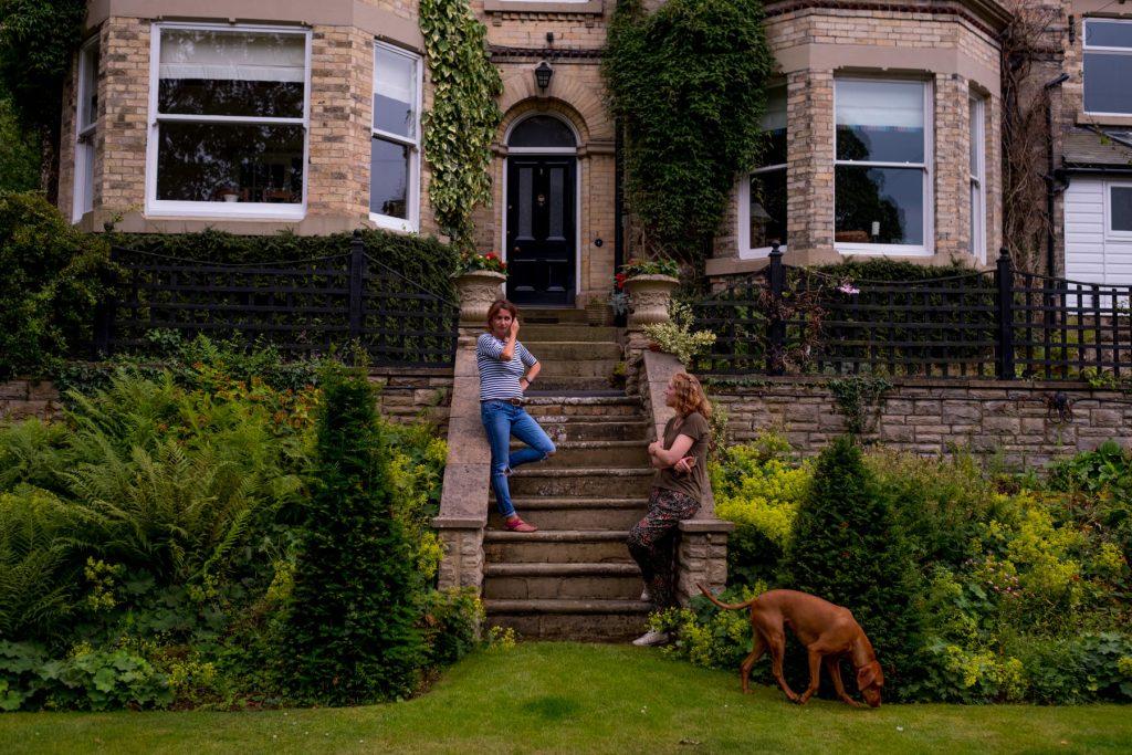Garden steps. Leeds garden design and build