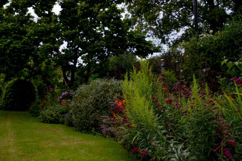 Traditional flower border. Garden design Leeds